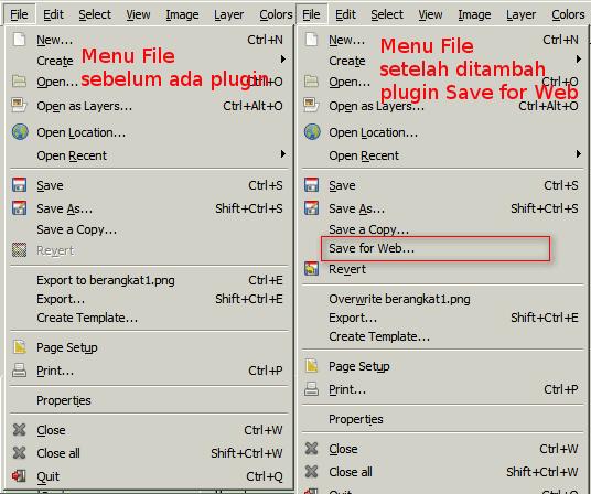 Perubahan menu 'File'