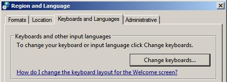 Region and Language