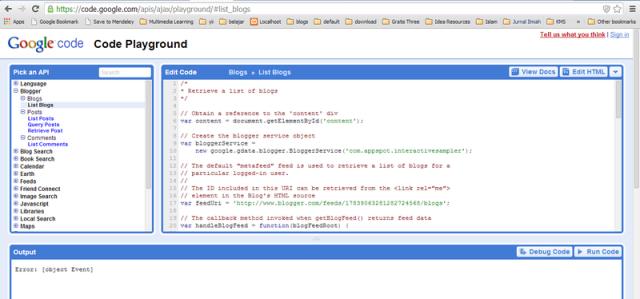 google code playground